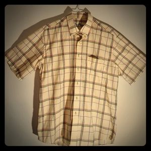 Alan Flusser Yellow Plaid Button Down Size Large